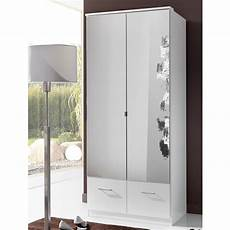 vista mirrored wardrobe in white with 2 doors and 2