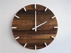 home decor clocks rustic wall clock large wall clock home decor by