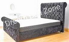 chesterfield modern bed frame sleigh style fully