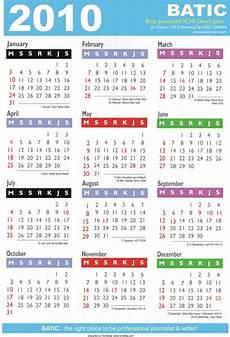 Calnder For 2010 Teknologi Informasi