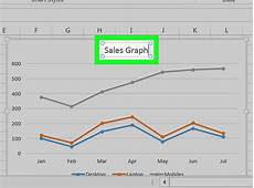 Making Line Graph In Excel How To Make A Line Graph In Microsoft Excel 12 Steps