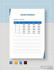 Example Of Salary Free 9 Salary Schedule Examples Amp Samples In Google Docs