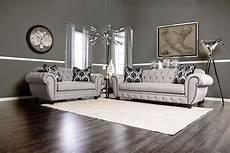 viviana gray tufted sofa sm2291 sf made in usa usa
