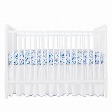 blue crib sheet biscuit home