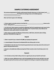 Catering Agreement Template 10 Catering Service Agreement Template Pdf Free