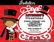 Magic Themed Birthday Invitations Magic Birthday Party Invitation Personalized