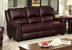 519460 turton burgundy top grain leather sofa