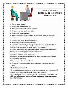 Sample Interview 25 Printable Sample Interview Questions Forms And