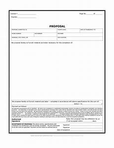 Construction Proposal Template Free Construction Proposal Form Bid Form Estimate Form