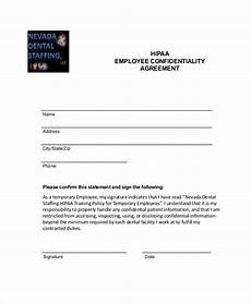 Employee Agreement Form Employee Confidentiality Agreement 10 Free Word Pdf