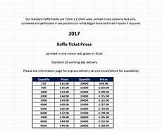 Raffle Ticket Price Raffle Ticket Design Printing And Mailing
