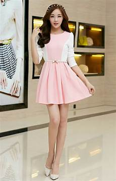 korean clothes princess korean 2014 princess dress fitted sweet pink