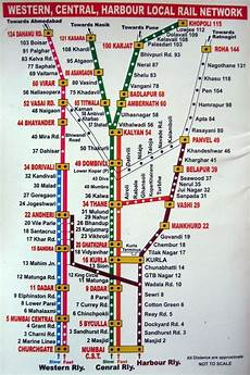Train Chart Download Thane Comes In Which Route Harbour Or Central Quora
