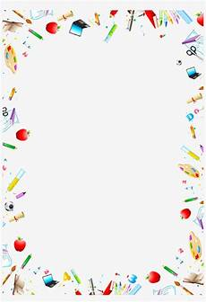 Stationery Border Design Stationery Vector Free Download Art Supplies Free Border