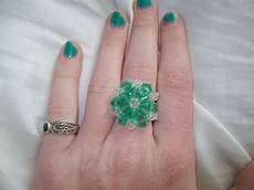 beaded snowflake ring 183 a beaded ring 183 beadwork and