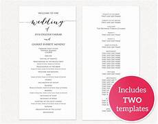 Wedding Ceremony Program Template Free Wedding Programs 183 Wedding Templates And Printables