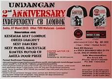 undangan acara 2nd anniversary independent cb lombok cb