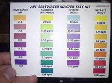 Api Nitrate Test Kit Color Chart Api Saltwater Test Color Chart Google Search Saltwater