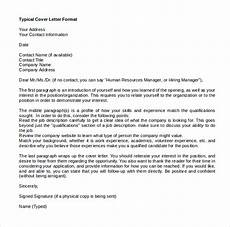 Letter Format Microsoft Word Free 18 Sample Microsoft Ms Word Cover Letter Templates