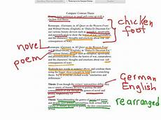 Examples Of Contrast Essays Compare Contrast Thesis English Writing Thesis