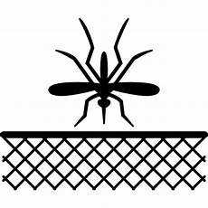 mosquito insect and net in black free web icons