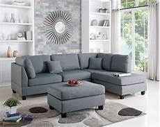 f7606 gray 2 pcs sectional sofa set by poundex