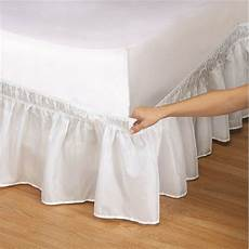 elastic bed skirt solid color hollow ruffle bed cover
