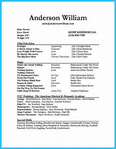 Example Of How To Write A Resumes Impressive Actor Resume Sample To Make