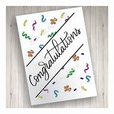 Congratulations Printable Card Congratulations Card Printable Congratulations With