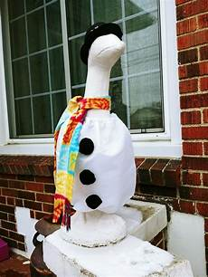 goose clothes for lawn geese goose clothes 4 lawn geese snowman fits 24 27 in cotton