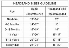 Foe Headband Chart Headband Sizes Chart Lovely Patterns Lace Headbands
