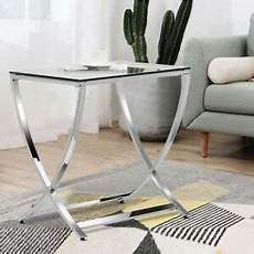 tempered glass end table side coffee sofa table nightstand