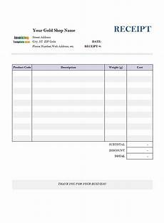 Receipt Download Receipt Template For Gold Shop 1