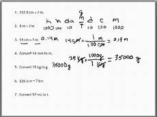 Dimensional Analysis Chart Dimensional Analysis Problems 1 Metric Conversions Youtube