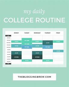 My College Schedule My Daily College Routine Slaughter