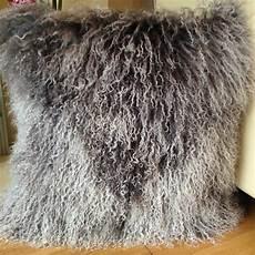 grey white mix 40x40cm genuine mongolian sheepskin
