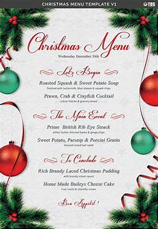 Free Blank Christmas Menu Templates Christmas Menu Template V1 By Lou606 Graphicriver