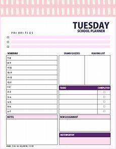 Academic Daily Planner Free Brilliant Daily School Planner For All Students