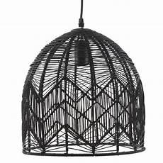 Black Rattan Ceiling Light Black Woven Rattan Pendant Lamp By Ella James