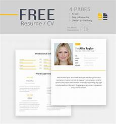 Free Cv Template Doc 30 Best Free Resume Templates In Psd Ai Word Docx