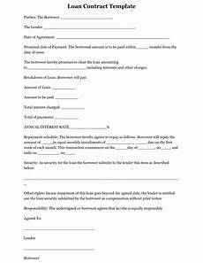 Personal Loans Template Free Printable Loan Template Form Generic