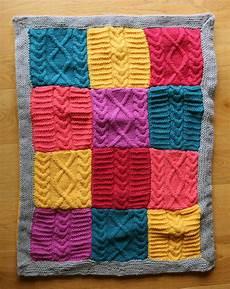 patron tricot couverture patchwork