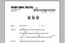 Bright Lights Chords Bright Lights Big City Sheet Music By Jimmy Reed Lyrics
