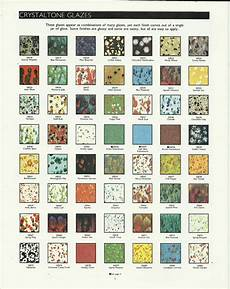 Ceramic Paint Color Chart Old Duncan Crystalone Glaze Color Chart Pottery Painting