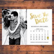 Save The Date Calendar Save The Date Invitation Calendar Save The Dates Faux Gold