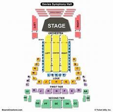 John M Greene Hall Seating Chart Davies Symphony Hall Seating Chart Seating Charts Amp Tickets