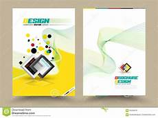 Front Page Design Template Vector Brochure Flyer Design Layout Template Line Style