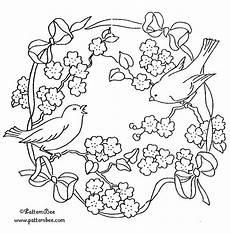 Vogel Malvorlagen Word Free Birdwreath Vintage Stickmuster Vogel Stickerei