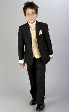 boy coats suit age 14 for prom boys black gold waistcoat wedding prom suit age 0m 16yr ebay