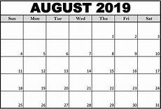 Writable Calendar Free Printable August 2019 Calendar Cute Magic Calendar
